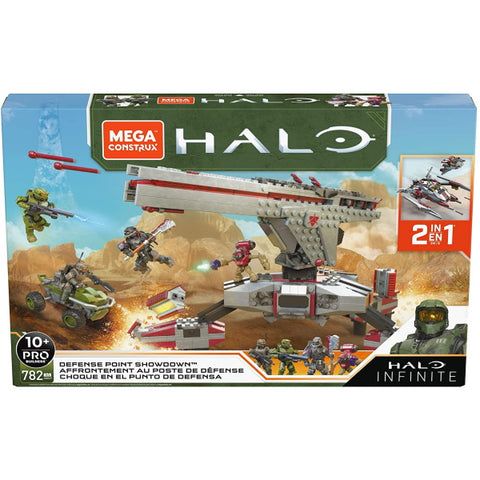 Mega Construx Halo Infinite: Defense Point Showdown - 782 Piece Building Kit [Toys, #GNB27, Ages 10+]