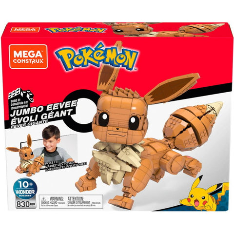 Mega Construx Pokemon: Jumbo Eevee - 830 Piece Building Kit [Toys, #GMD34, Ages 10+]