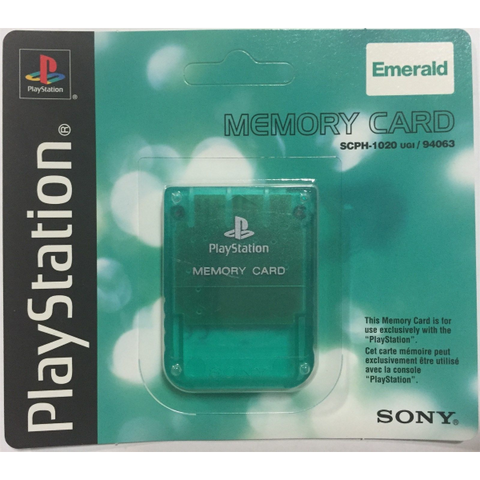 Sony PlayStation 1 Emerald Green Memory Card [PlayStation 1 Accessory]