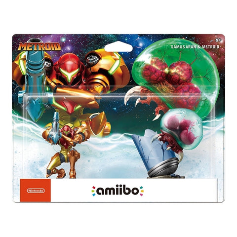 Samus Aran & Metroid Amiibo 2-Pack - Metroid Series [Nintendo Accessory]