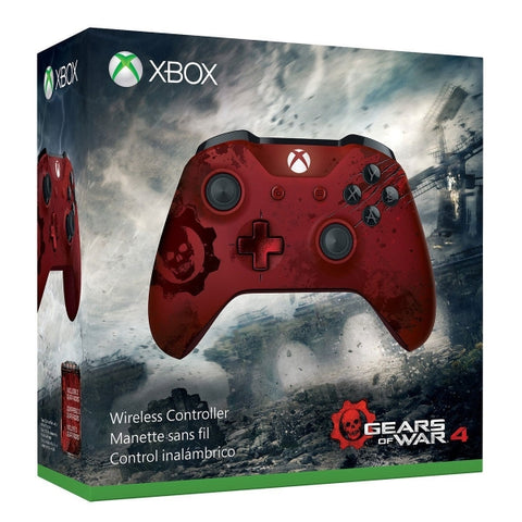 Xbox One Wireless Controller - Gears of War 4 Crimson Omen Limited Edition [Xbox One Accessory]