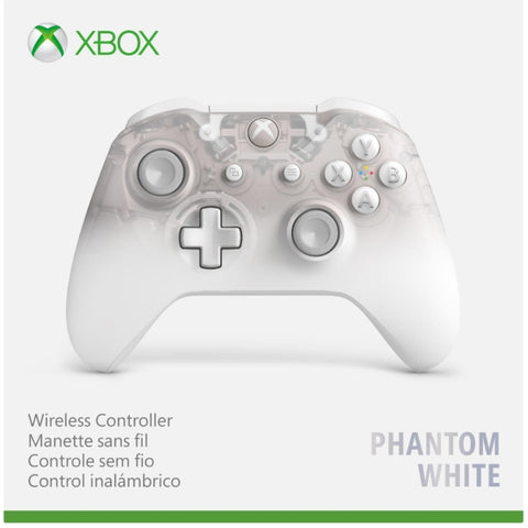 Xbox One Wireless Controller - Phantom White Special Edition [Xbox One Accessory]