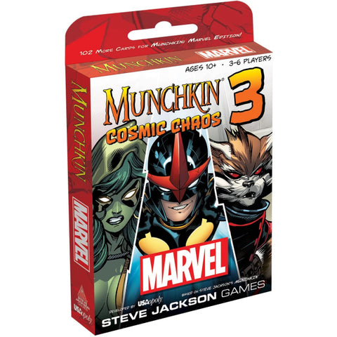 Munchkin Marvel 3: Cosmic Chaos [Card Game, 3-6 Players, Ages 10+]