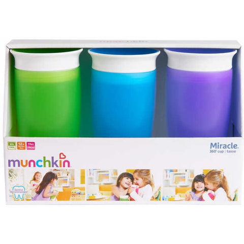 Munchkin Miracle 360 Degree Cup - 3-Pack - 10 Ounce [House & Home]