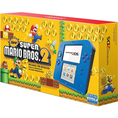 Nintendo 2DS Console - Electric Blue 2 - Includes New Super Mario Bros. 2 [Nintendo 2DS System]