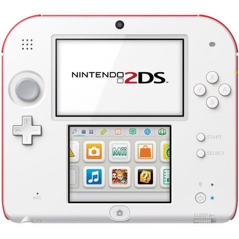 Nintendo 2DS Console - Red + White [Nintendo 2DS System]