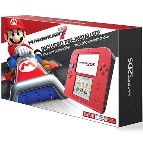 Nintendo 2DS Console - Crimson Red 2 - Includes Mario Kart 7 [Nintendo 2DS System]