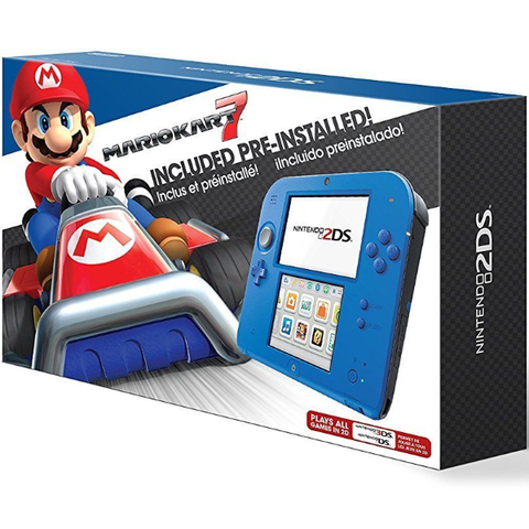Nintendo 2DS Console - Electric Blue 2 - Includes Mario Kart 7 [Nintendo 2DS System]