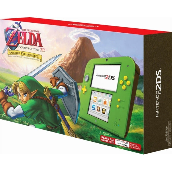 Nintendo 2DS Console - Kokiri Green Link Edition - Includes The Legend of  Zelda: Ocarina of Time 3D [Nintendo 2DS System]