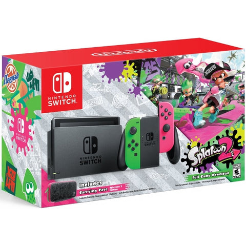 Nintendo Switch Console - Splatoon 2 + Neon Green & Neon Pink Joy-Cons [Nintendo Switch System]