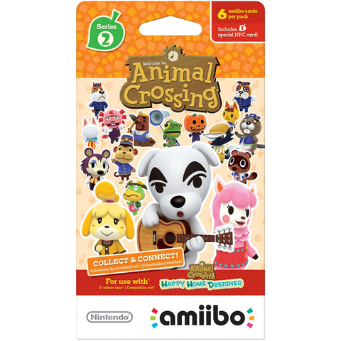 Nintendo Animal Crossing Amiibo Cards - Series 2 - 6 Card Pack [Nintendo Accessory]
