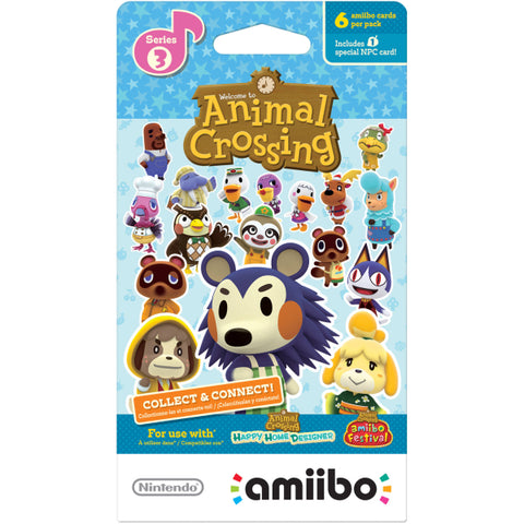 Nintendo Animal Crossing Amiibo Cards - Series 3 - 6 Card Pack [Nintendo Accessory]