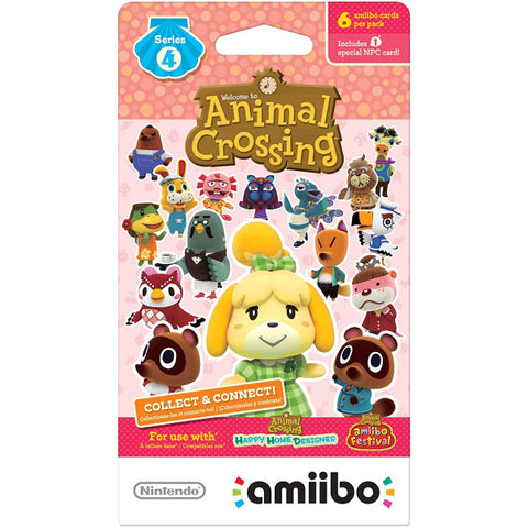 Nintendo Animal Crossing Amiibo Cards - Series 4 - 6 Card Pack [Nintendo Accessory]