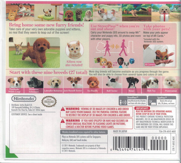 nintendogs + cats: Toy Poodle & New Friends - release date, videos ...   541x600