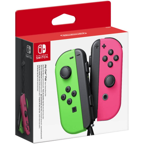 Nintendo Switch Joy-Con Controller Pair - Neon Green & Pink [Nintendo Switch Accessory]