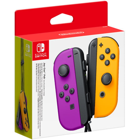 Nintendo Switch Joy-Con Controller Pair - Neon Purple & Orange [Nintendo Switch Accessory]