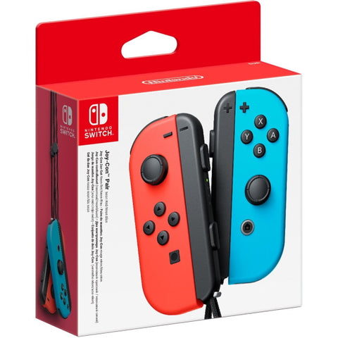 Nintendo Switch Joy-Con Controller Pair - Neon Red & Blue [Nintendo Switch Accessory]