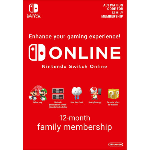 Nintendo Switch Online - 12-Month Family Membership [Nintendo Switch Accessory]