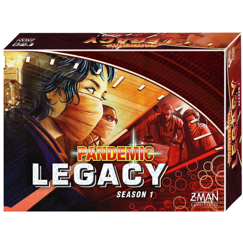 Pandemic: Legacy - Season One Red Version [Board Game, 2-4 Players]