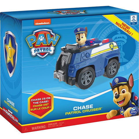 PAW Patrol Chase's Patrol Cruiser with Collectible Figure [Toys, Ages 3+]