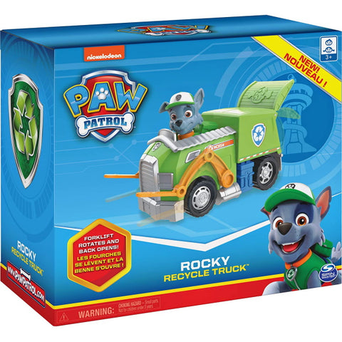 PAW Patrol Rocky's Recycle Truck with Collectible Figure [Toys, Ages 3+]