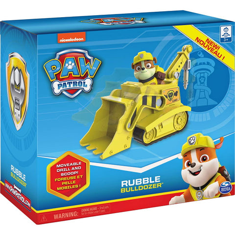 PAW Patrol Rubble's Bulldozer Vehicle with Collectible Figure [Toys, Ages 3+]