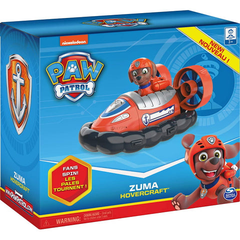 PAW Patrol Zuma's Hovercraft Vehicle with Collectible Figure [Toys, Ages 3+]