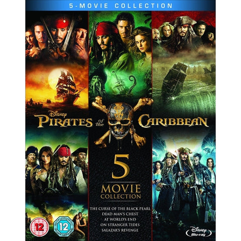 Disney's Pirates of the Caribbean 5-Movie Complete Collection [Blu-Ray Box Set]