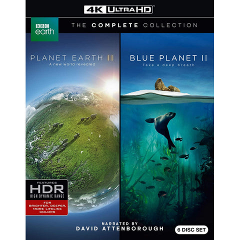 Planet Earth II and Blue Planet II: The Complete Collection - 4K [Blu-Ray Box Set + 4K UHD]