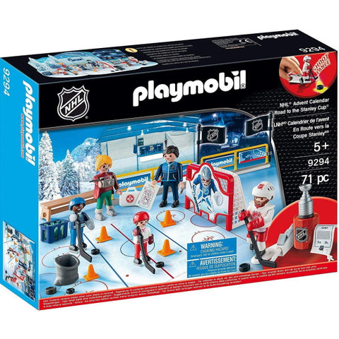 Playmobil NHL: NHL Advent Calendar - Road to The Cup - 71 Piece Playset [Toys, #9294, Ages 3+]