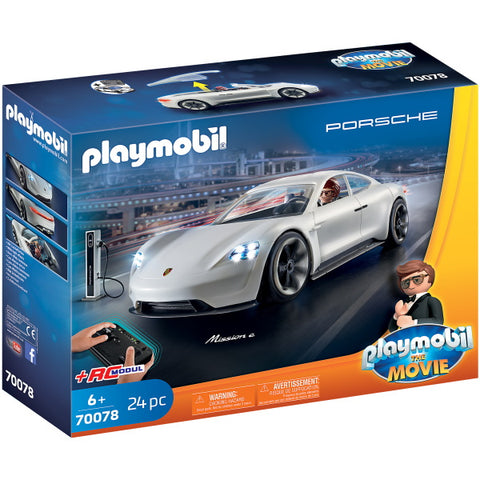 Playmobil The Movie: Rex Dasher's Porsche Mission E - 24 Piece Playset [Toys, #70078, Ages 6+]