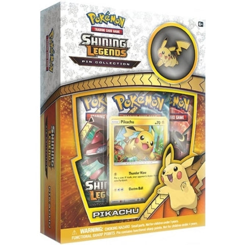 Pokemon TCG: Shining Legends Pin Collection - Pikachu [Card Game, 2 Players]