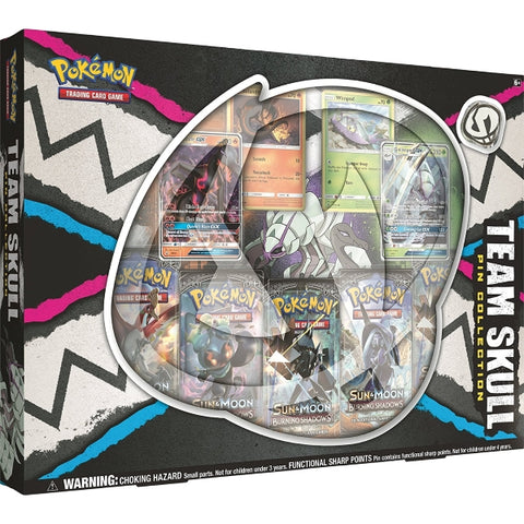 Pokémon TCG: Team Skull Pin Collection Box [Card Game, 2 Players]