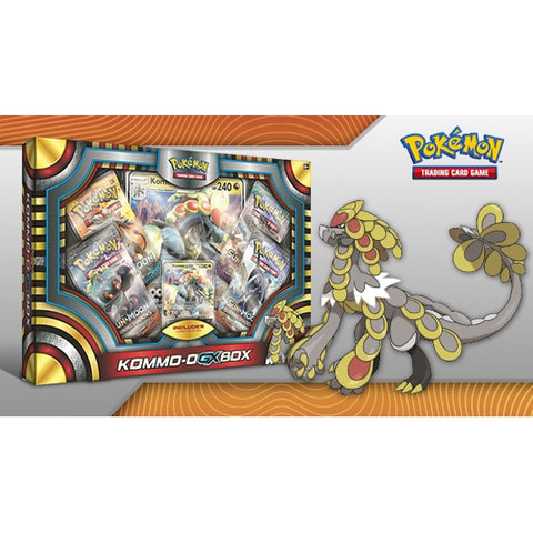 Pokemon TCG: Sun and Moon - Kommo-O-GX Box [Card Game, 2 Players]