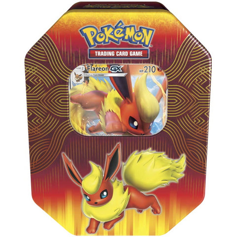 Pokemon TCG: Elemental Power Tin Featuring Flareon-GX [Card Game, 2 Players]