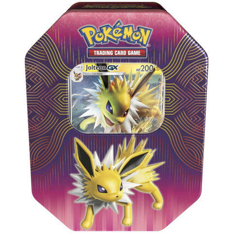 Pokemon TCG: Elemental Power Tin Featuring Jolteon-GX [Card Game, 2 Players]