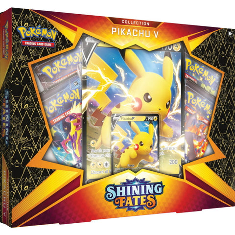 Pokemon TCG: Shining Fates Collection - Pikachu V [Card Game, 2 Players]