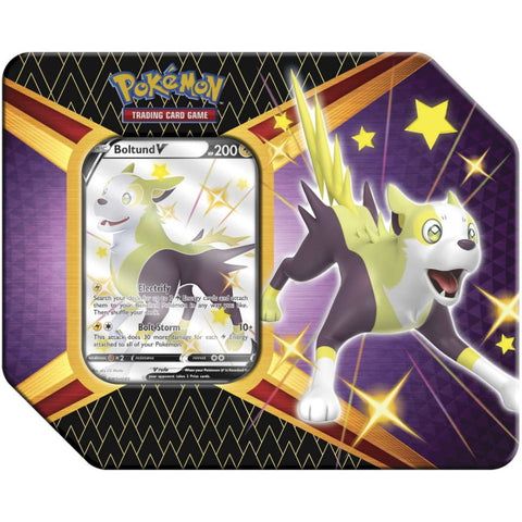 Pokemon TCG: Shining Fates Tin - Boltund V [Card Game, 2 Players]
