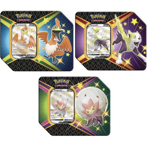 Pokemon TCG: Shining Fates Tins - Boltund V / Cramorant V / Eldegoss V [Card Game, 2 Players]