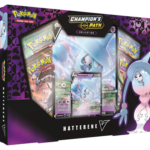 Pokemon TCG: Champion's Path Collection - Hatterene V [Card Game, 2 Players]