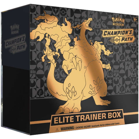 Pokémon TCG: Champion's Path Elite Trainer Box - Charizard V [Card Game, 2 Players]