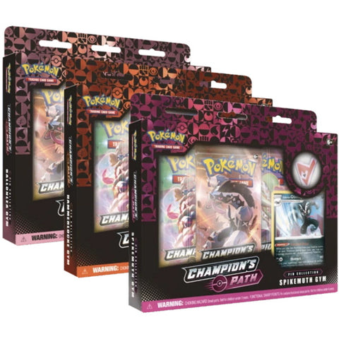 Pokemon TCG Champion's Path: Pin Collection Box - Ballonlea/Spikemuth/Hammerlocke [Card Game, 2 Players]