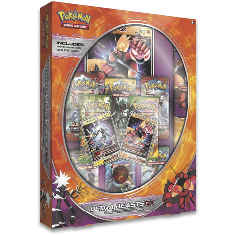 Pokemon TCG: Ultra Beasts GX Premium Collection - Buzzwole & Xurkitree [Card Game, 2 Players]