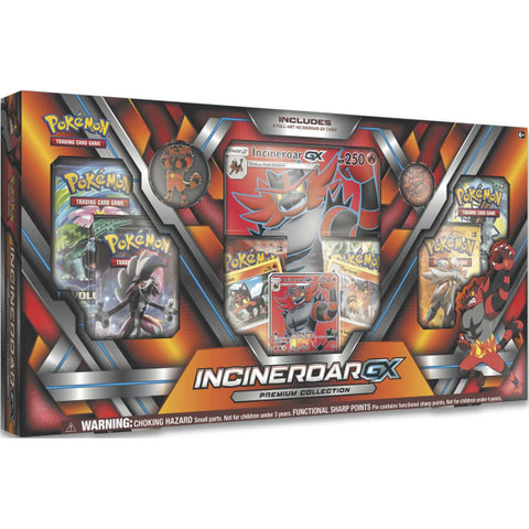 Pokemon TCG: Sun & Moon Guardians Rising - Incineroar GX Premium Collection Box [Card Game, 2 Players]