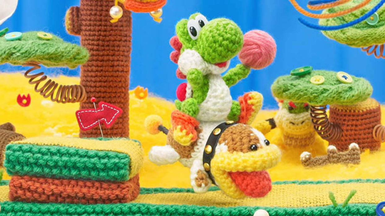 Poochy and Yoshi's Woolly World + Yarn Poochy Amiibo [Nintendo 3DS]