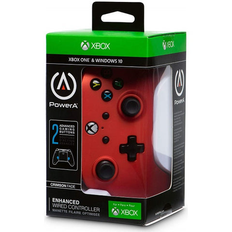 PowerA Xbox One Wired Controller - Crimson Fade Red [Xbox One Accessory]