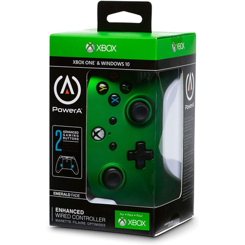 PowerA Xbox One Enhanced Wired Controller - Emerald Fade [Xbox One Accessory]