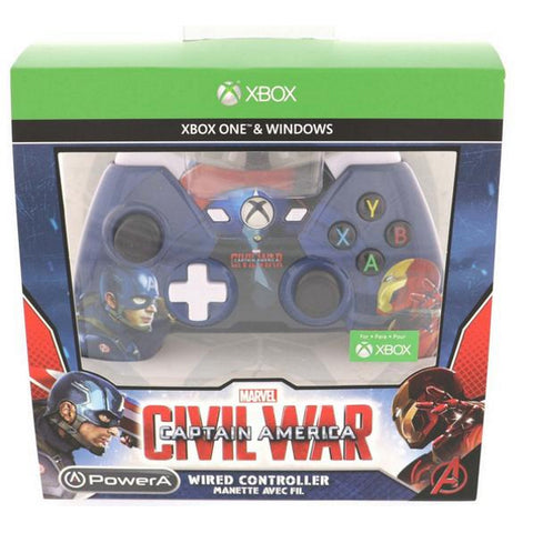 PowerA Xbox One Wired Controller - Captain America: Civil War [Xbox One Accessory]