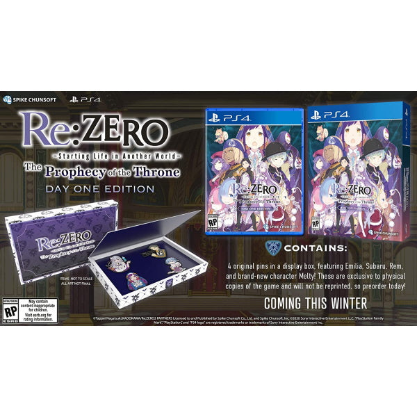 Re:ZERO - Starting Life in Another World: The Prophecy of the Throne - Day 1 Edition [PlayStation 4]