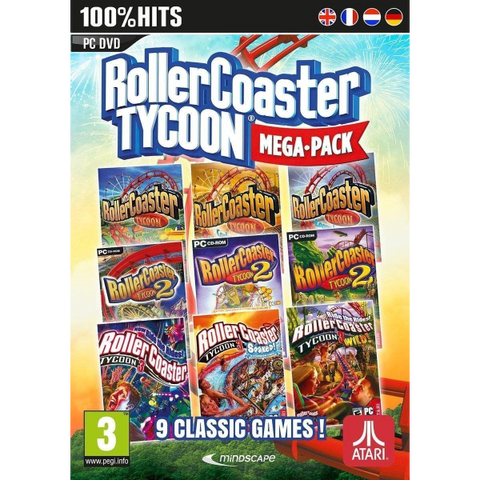 Roller Coaster Tycoon: Mega Pack - 9 Classic Games [PC]